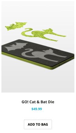 cat and bat applique die