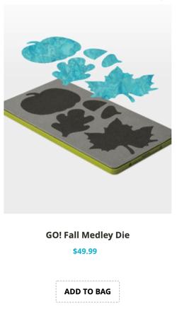 fall medley applique die