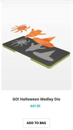 halloween medley applique die