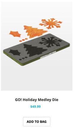 holiday medley die