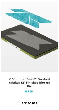 hunters star block on board quilt block die