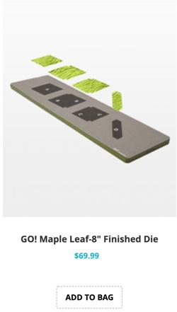 maple leaf quilt block on board die
